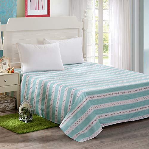 Hllhpc Plaid Stripe Flat 100% Cotton Fabric Family Sheet Double Queen, Home...