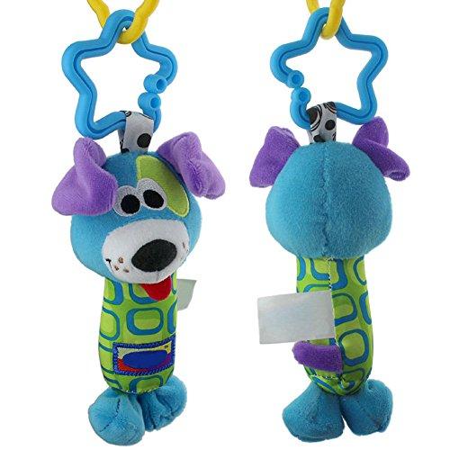 Zibuyu Baby Toys Rattle Tinkle Hand Bell Plush Stroller Dog Random Color
