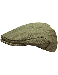 cfbe233e0cf Mens Derby Tweed Flat Cap Teflon Coated Hat by WWK   WorkWear King
