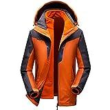 GITVIENAR 3 in 1 Outdoor Jacken Herren Softshell Jacken Skifahren Bergsteigen Kleidung warm winddichte Kleidung großen Werften wasserdichte Bekleidung atmungsaktive Klettern warme Kleidung