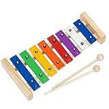 Xylophon Musikinstrument inkl. 2Holzschläger 8Noten Baby Glockenspiel Orff Percussion