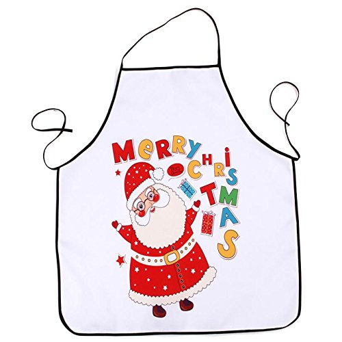 Lqchl 1Pcs 70*80Cm Décoration De Noël Tablier Imperméable En Polyester Pour Le Dîner De Noël Cuisine Tablier Partie Décoration D,G