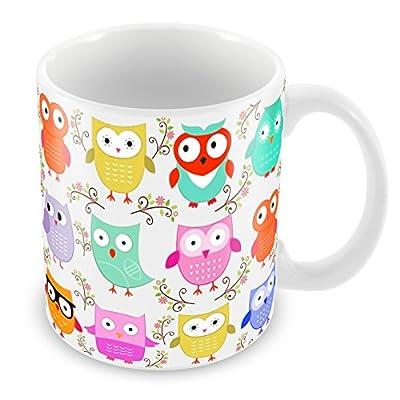 Bonita taza con diseño de búho, ideal para Navidad, cumpleaños, profesor, escuela, cualquier ocasión.
