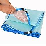 QX pengbu IAIZI Regenschutztuch wasserdichtes Tuch Kunststofftuch Regenstoff Plane Regenschutztuch transparente Verdickung (größe : 4 m X8 m)