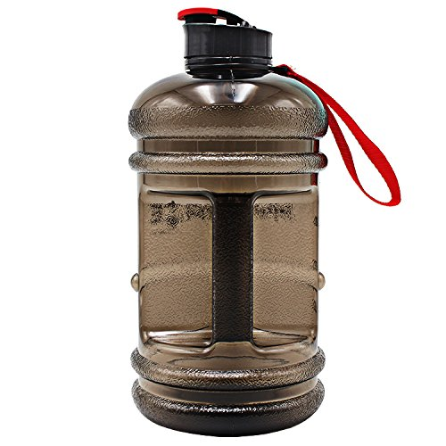 518rIC0AARL. SS500  - HYDRATE 2.2 Litre Water Bottle - Now With Easy Drink Cap - Durable & Extra Strong - BPA Free - Ideal for: Gym, Dieting, Bodybuilding, Outdoor Sports, Hiking & Office