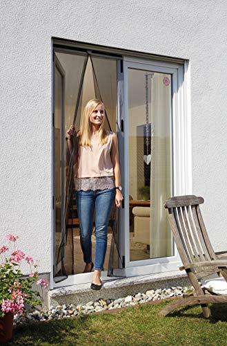 Schellenberg 50640 Insektenschutz-Magnetvorhang für Türen, anthrazit – 90 x 210 cm