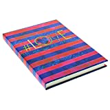 Goldbuch Notizbuch A5, (Hastag) Love, 200 chamoisfarbene Blankoseiten, Kunstdruck, Blau/Rot, 64301