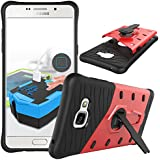UKDANDANWEI Samsung Galaxy A5 (2016) Etui - Housse DWaybox 2 in 1 Hybrid Heavy Duty Armor Hard Back Coque Housse avec kickstand pour Samsung Galaxy A5 (2016) Rouge