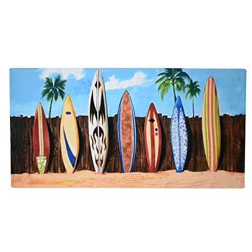 GEEZY, Asciugamano da Spiaggia in Microfibra, Leggero, per Sport, Viaggi, Palestra, Estivo...