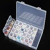8m amovible en plastique Transparent Organiseur Nail Art strass 28-grid Bijoux en diamants Collier de perles Boucles d'oreilles Boîte de rangement de vitrine