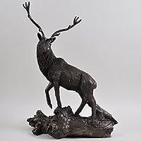Scultura in bronzo cervo Wildlife regalo Home Decor (Fusioni Freddo Bronzo)