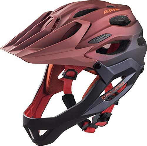 Alpina Unisex - Casco de Bicicleta King Carapax, Indigo-Cherry Drop, 57-62 cm