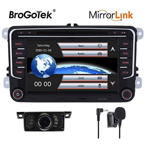 17,8 cm Doppel DIN in Dash Auto Stereo für Volksvagen VW Golf Polo Passat Jetta Tiguan Skoda Seat mit DVD Player GPS Navigation Video Audio FM AM Radio Bluetooth 3 G - Stereo Kenwood Din Doppel