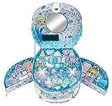 Markwins - Disney Frozen/La Regina di ghiaccio/set regalo: bauletto illuminato per oggetti di toletta, con specchio + Make Up (trucco)–per bambini