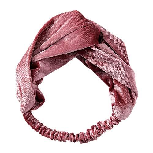 Weimay 1 unids diadema para el cabello vendas de las mujeres elásticos franela pelo lindo cabello banda accesorios (rosa)
