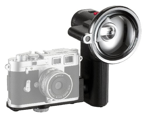 MINOX Classic Camera Auto Flash - Blitzgerät im nostalgischen Look für Digital Classic Camera Modelle - mit automatischem Lichtsensor - Inkl. Batterien