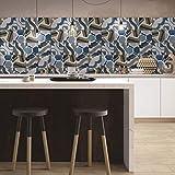 JY ART Adhésif décoratif - Autocollant carrelage| Stickers Carreau Ciment - Rénover Mural de Salle de Bain et Cuisine | Facile à appliquer et repositionable | Design Classique G528, 20cm*5m