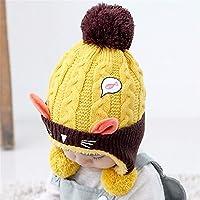 ETMAAA Kinder Hut Herbst und Winter Baby Ohrenschützer Baby warm mit Kapuze Wollmütze Jungen und Mädchen Strickmütze