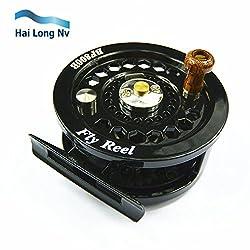 Fly Flies Fishing Reels Reel Spool Loop Freshwater Right Left Handed Black