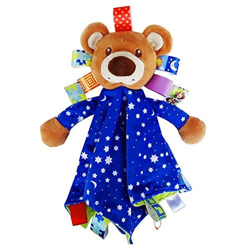 Ssowun Schmusetücher Appease Tuch Stoffspielzeug für Baby, Weiches Babyspielzeug Bunter Marionettenfarbendecke Mini Nette Puppe EINWEG verpackung - Puppe Baby Tuch