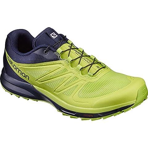 Salomon Sense Pro 2, Sneakers trail-running homme - bleu - Bleu (Navy Blazer/Lime Punch./Lime Green), 41 1/3 EU