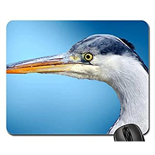 Ardea cinerea, grey heron Mouse Pad, Mousepad (Birds Mouse Pad)