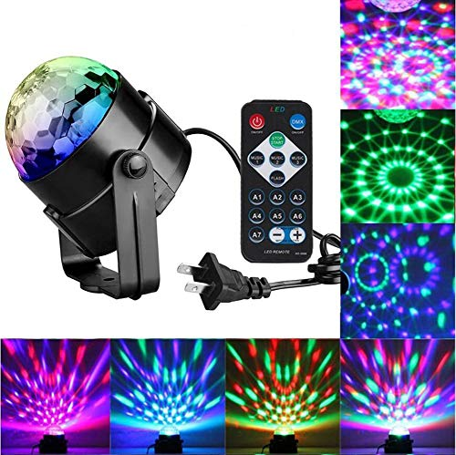 Crystal Magic Rotating Ball Party Effekt LED-Bühnenbeleuchtung Mit Multi-Farben Disco-Ball-Lampen, 3W RGB Für KTV-Beleuchtung, X ' Mas Party, Hochzeits Show, Club Pub DJ Lighting ()