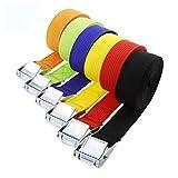 Gepäck Gurtband Security Strap Koffer Verpackung Gürtel Tie Down Strap Starke Ratsche Gürtel Auspeitschung Metall Schnalle Farbe zufällig 1200x 25cm