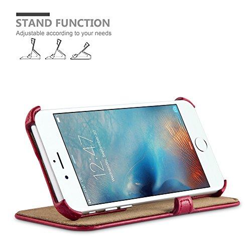 Apple iPhone 6 / 6S Hülle in ROT von Cadorabo - Handy-Hülle OHNE Magnet-Verschluss , mit Standfunktion und Eckhalterung für Apple iPhone 6 / 6S Case Cover Schutz-hülle Etui Tasche Book Klapp Style in  PASSION-ROT