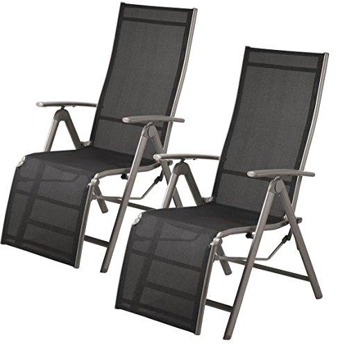 Doppelpack Aluminium RELAXSESSEL grau Klappstuhl Sessel Stuhl Relax ca. 59 x 112 x 72 cm ~ds6 761