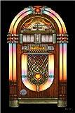 Posterlounge Tableau en Bois 120 x 180 cm: Vintage Jukebox de Michael Fishel
