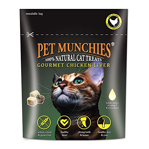 Pet Munchies Gourmet Katzensnacks mit Hühnerleber (10 g) (Mehrfarbig)
