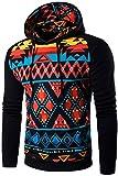 jeansian Herren Casual Ethnic Style Hooded Pullover Hoody Hoodies Sweatshirt