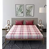 Trident Comfort Living 100% Cotton Double Bedsheet with 2 Pillow Covers Jack Maroon