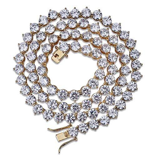 eite Schmuckkette,Hochwertige Zirkonia 18 Karat Vergoldete Halskette,Mode-Accessoires Männer Und Frauen Für Allgemeine Zwecke,Gold,18in ()