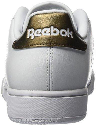 Reebok Unisex-Erwachsene Npc Ii Metallics Low-Top Weiß (White/Antique Copper)
