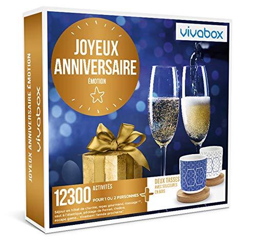 Vivabox - Coffret cadeau anniversaire - JOYEUX ANNIVERSAIRE EMOTION - 12300...