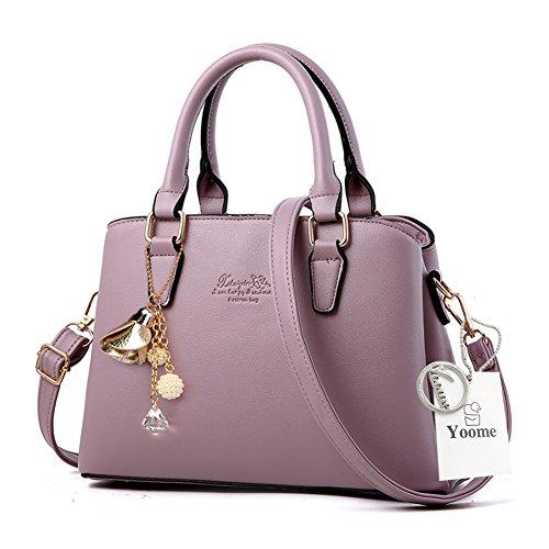 Borse da telaio Yoome per le donne in vendita Borse eleganti in borsa in pelle in pelle per le donne - rosa Viola