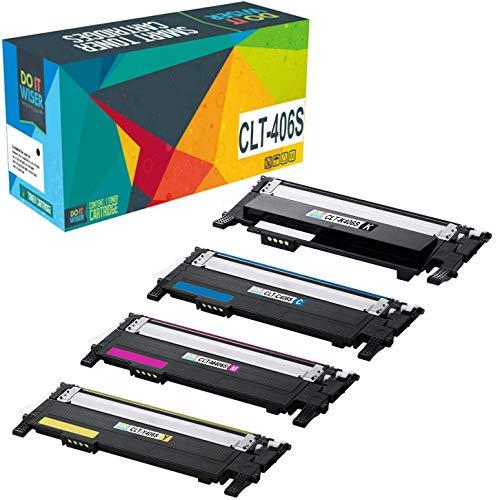 Do it wiser Kompatible Toner als Ersatz für Samsung CLX 3305 C460W CLP-365 C410W CLP 360 C460FW CLX 3300 CLX 3305FN CLX 3305FW CLP 365W CLP-360N CLT K406S CLT C406S CLT M406S CLT Y406S (4er-Pack)