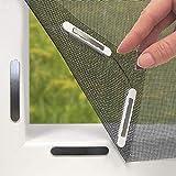 Hoberg hor met innovatieve magneetsluiting voor het raam | Individueel op maat te snijden tot 150 x 130 cm, niet boren of sch