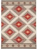 benuta In- & Outdoor Teppich Star Kilim Rot 140x200 cm   Pflegeleichter Teppich geeignet für Innen- und Außenbreich, Balkon und Terrasse