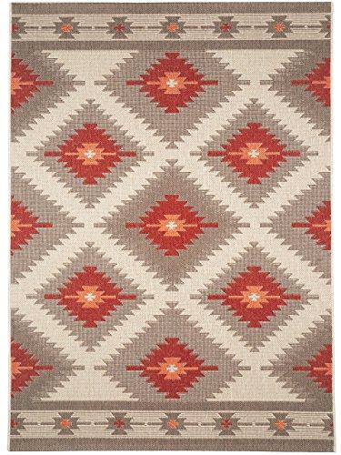 Outdoor-rot-teppich (benuta In- & Outdoor Teppich Star Kilim Rot 140x200 cm | Pflegeleichter Teppich geeignet für Innen- und Außenbreich, Balkon und Terrasse)