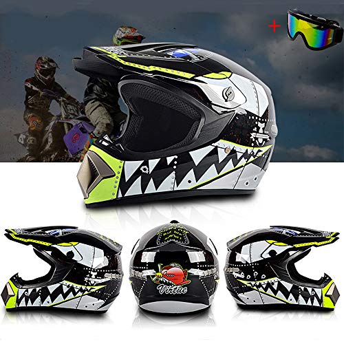 2523c186b32ea Motorcycle Quad DH Crash Helmet Full Face Motocross Off Road Downhill  Pitbike ATV MX Light Weight