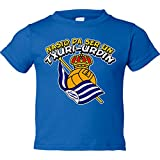 Camiseta niño nacido para ser un Txuri-urdin Real Sociedad