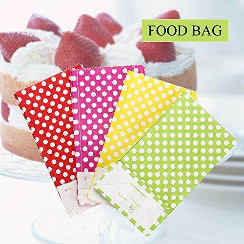 TOYMYTOY 20 Stücke Papier Süßigkeiten Geschenk Taschen Gunst Tasche mit Tupfenmuster für Party Cookie Verpackung Lieferungen