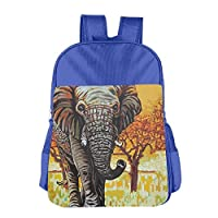 Elephant Paint Children School Backpack Carry Bag for Youth Boy Girls