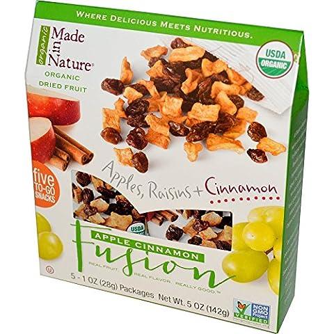 Made in Nature, Organic Dried Fruit, Apple Cinnamon Fusion, 5 packs / 1 oz ea