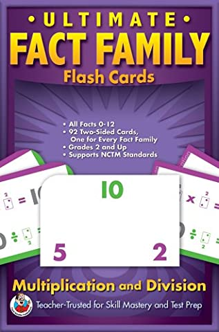 Ultimate Fact Families Flash Cards: Multiplication & Division