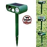 Flying Hedwig RC-510B Solar Infrarot Flash Ultraschall Laufwerk Katze und Hund Elektronische Sonic Animal Drive Lichter Vogel Laufwerk Katzenschreck(dunkelgrün)