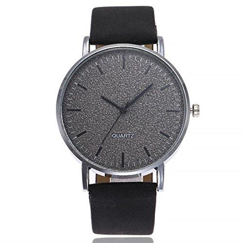 PLOT Damen Quarzuhr Mit Lederarmband   2018 Hot Sale   Armbanduhren Für Frauen   Geschenke Für Frauen   Einstellbar Uhrenband   Quarzwerk   20mm Bandbreite   40mm Gehäusedurchmesser (A)